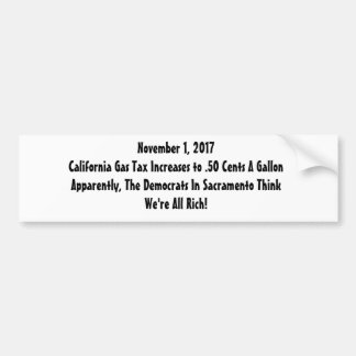 Gas Tax Revolt Bumper Sticker