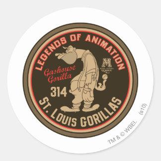 Gashouse Gorillas Logo Feat. Pitcher Round Sticker
