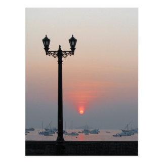 Gaslight at sunrise postcard