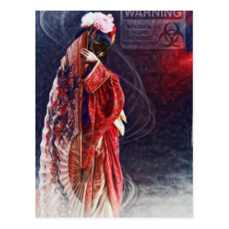 Gasmask Geisha by Shawna Mac Postcard