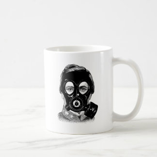 Gasmask Man Coffee Mug