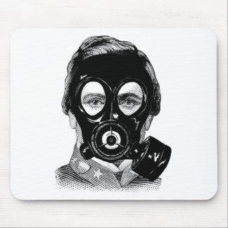 Gasmask Man Mouse Pad