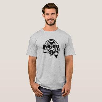 Gasmask With Headphones Logo Humour Funny T-Shirt