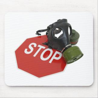 GasMaskStopSign052409 Mouse Pad