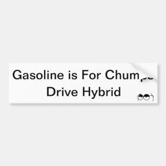 Gasoline is For Chumps (Hybrid) Bumper Sticker