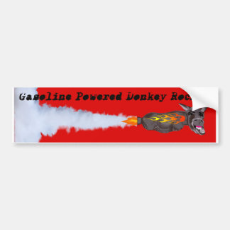 Gasoline Powered Donkey Rocket Bumper Sticker
