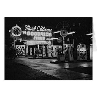 Gasoline Station Hollywood California Vintage 1942 Card