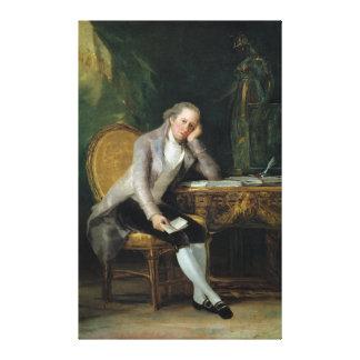 Gaspar Melchor de Jovellanos by Francisco Goya Gallery Wrapped Canvas