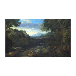 Gaspard Dughet Imaginary Landscape Canvas Print