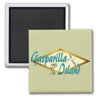 Gasparilla Island Florida beach design Refrigerator Magnets
