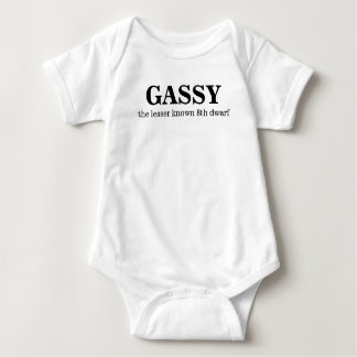 Gassy, the 8th dwarf baby bodysuit