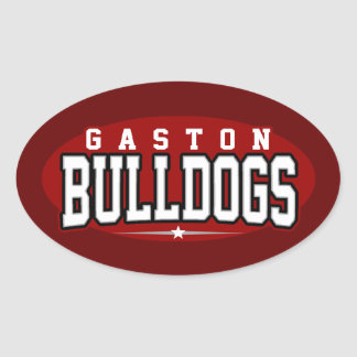 Gaston High School; Bulldogs Oval Sticker