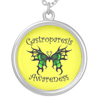 Gastroparesis Awareness Silver Plated Necklace