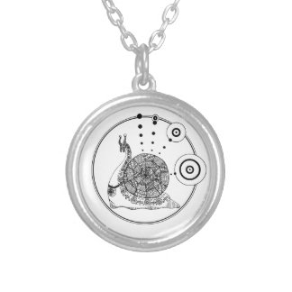 Gastropod Silver Plated Necklace