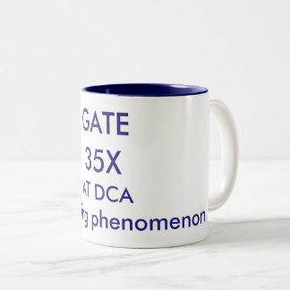 Gate 35X-Reagan National Airport. Two-Tone Coffee Mug