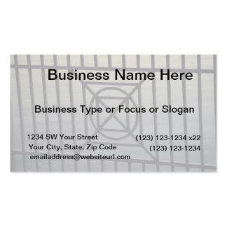 gate abstract pattern white rails neat background business cards