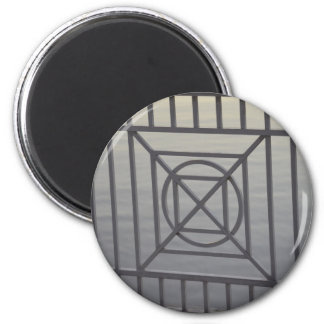 gate abstract pattern white rails neat background fridge magnets
