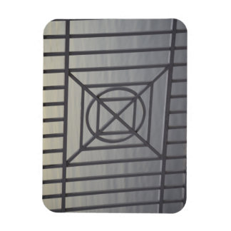 gate abstract pattern white rails neat background rectangular magnet
