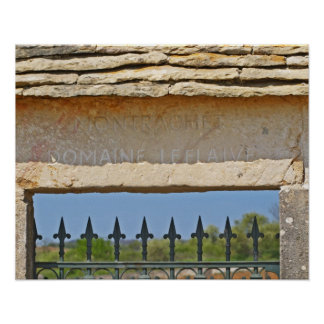 Gate and key stone carved with Montrachet, Poster