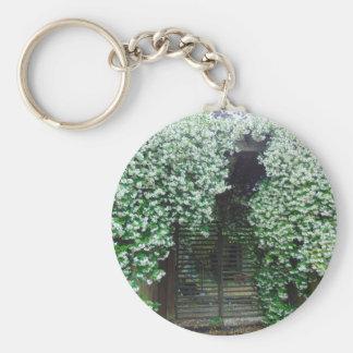 Gate Covered in Jasmine Key Ring