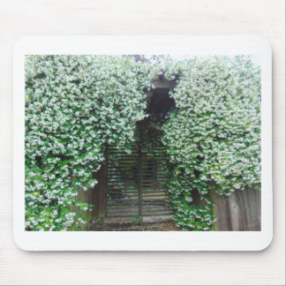 Gate Covered in Jasmine Mouse Pad