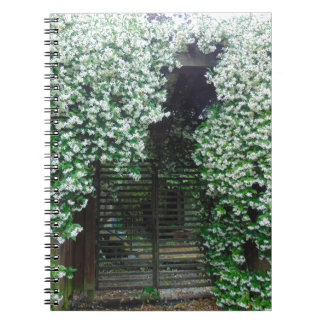 Gate Covered in Jasmine Notebook