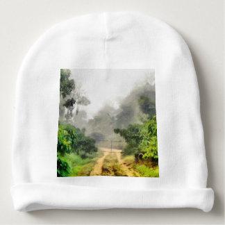 Gate, greenery and mist baby beanie