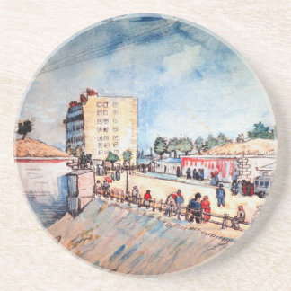 Gate in the Paris Ramparts by Vincent van Gogh Coasters