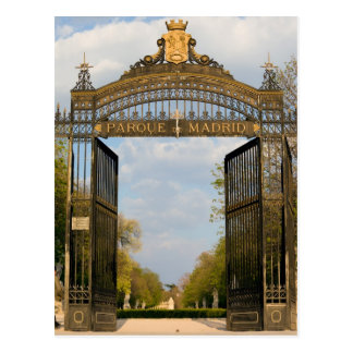 Gate to the Retiro Park in Madrid Postcard