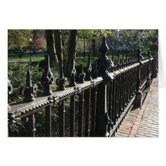 Gates on the Public Garden Greeting Card