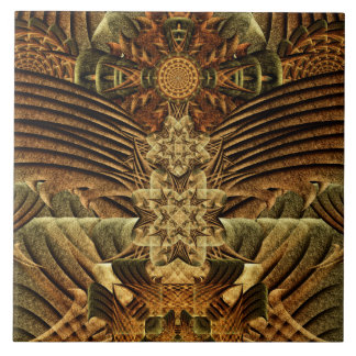 Gateway of the Ancients Mandala Large Square Tile