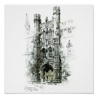 Gateway to Kings College Canvas Poster