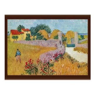 Gateway To The Farm By Vincent Van Gogh Postcard