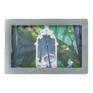 Gateway To The Parallel World Rectangular Belt Buckles