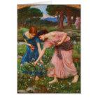 Gather Ye Rosebuds While Ye May by John Waterhouse Card