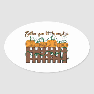 Gather Your Little Pumpkins Stickers