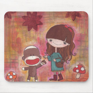 Gathering Chestnuts Mousepad
