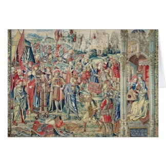 Gathering the Booty, Tapestry of David and Bathshe Card