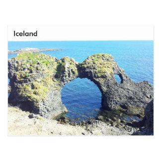 Gatklettur Stone Arch, Arnarstapi, Iceland Postcard