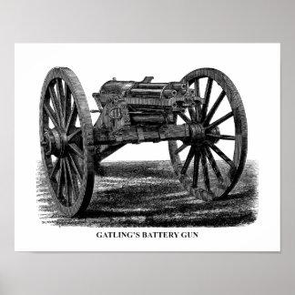 Gatling Gun Poster