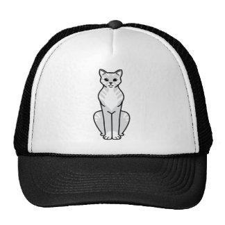 Gato Cat Cartoon Mesh Hats