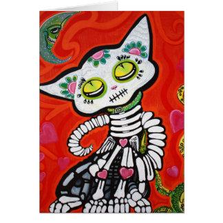 Gato De Los Muertos Greeting Card