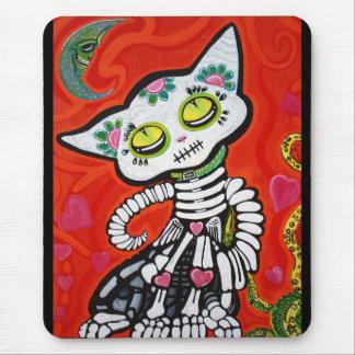 Gato De Los Muertos Mouse Pad