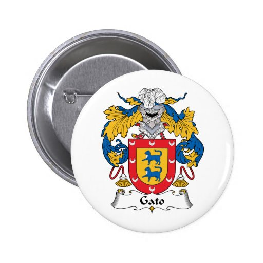 Gato Family Crest Pins