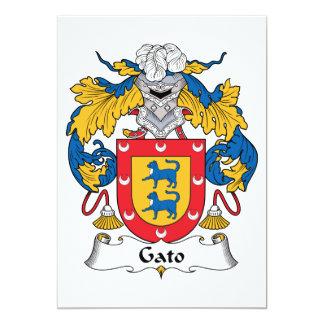 Gato Family Crest Personalized Invitations
