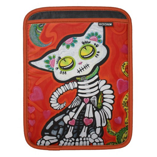 Gato Los Muertos Rickshaw Sleeve iPad Sleeve