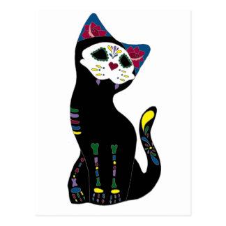 'Gato Muerto' Dia De Los Muertos Cat Postcard