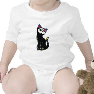 'Gato Muerto' Dia De Los Muertos Cat T-shirt