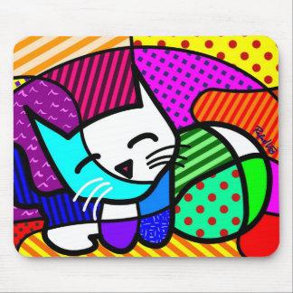 Gato Pop Mouse Pad