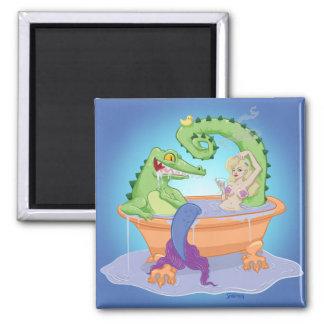 Gator and Mermaid Magnet